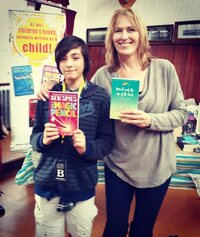 Young Author Ben Spies and author Julie Lamb at Booktown Featherston
